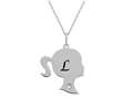Finejewelers Girl Personalized Initial L Alphabet Pendant Necklace with CZ  16 -18 Inch Adjustable Chain