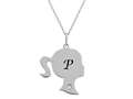 Finejewelers Girl Personalized Initial P Alphabet Pendant Necklace with CZ  16 -18 Inch Adjustable Chain