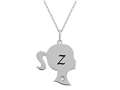 Finejewelers Girl Personalized Initial Z Alphabet Pendant Necklace with CZ  16 -18 Inch Adjustable Chain