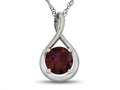 7mm Round Created Ruby Twist Pendant Necklace - Chain Included
