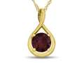 7mm Round Created Ruby Twist Pendant Necklace