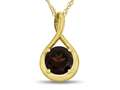 7mm Round Garnet Twisted Pendant Necklace