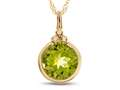 Finejewelers 8mm Round Bezel Set Peridot Pendant Necklace - Chain Included