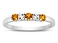 2.5mm Citrine and White Topaz Band / Ring