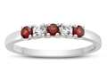 2.5mm Garnet and White Topaz Band / Ring