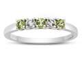 2.5mm Peridot and White Topaz Band / Ring