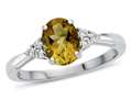 8x6mm Oval Citrine and White Topaz Ring