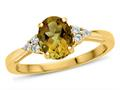 Finejewelers 10k Yellow Gold 8x6mm Oval Citrine and White Topaz Ring