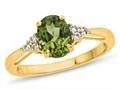 Peridot (Yellow Gold)