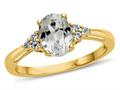 Finejewelers 10k Yellow Gold 8x6mm Oval White Topaz Ring