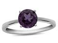 10k White Gold 7mm Round Simulated Alexandrite Ring