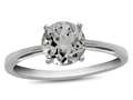 10k White Gold 7mm Round White Topaz Ring