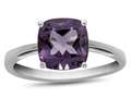 10k White Gold 7mm Cushion Amethyst Ring