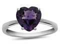 10kt White Gold 7mm Heart Shaped Amethyst Ring
