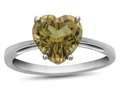 10k White Gold 7mm Heart Shaped Citrine Ring