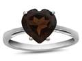 10k White Gold 7mm Heart Shaped Garnet Ring