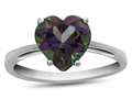 10k White Gold 7mm Heart Shaped Mystic Topaz Ring