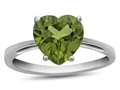 10k White Gold 7mm Heart Shaped Peridot Ring