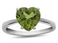 10kt White Gold 7mm Heart Shaped Peridot Ring