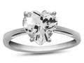 10k White Gold 7mm Heart Shaped White Topaz Ring