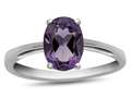 10k White Gold 7x5mm Oval Amethyst Ring