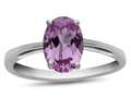 Finejewelers 10k White Gold 7x5mm Solitaire Oval Created Pink Sapphire Ring