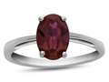 Finejewelers 10k White Gold 7x5mm Solitaire Oval Created Ruby Ring
