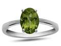 10k White Gold 7x5mm Oval Peridot Ring