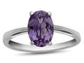 10k White Gold 7x5mm Oval Simulated Alexandrite Ring