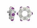 Storywheel® Cab Amethyst Ring Bead / Charm