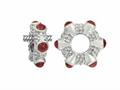 Storywheel® Cab Garnet Ring Bead / Charm