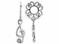 Storywheel® Created White Sapphire G-clef Dangle Bead / Charm