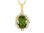 8x6mm Oval Peridot and White Topaz Peridot Style number: P10563SPMUL710KY