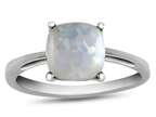 10k White Gold 7mm Cushion Created Opal Ring Style number: R1078302