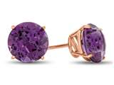 Finejewelers 10k Rose Gold 7mm Round Amethyst Post-With-Friction-Back Stud Earrings style: E4043A10KR