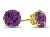 Finejewelers 14k Yellow Gold 7mm Round Amethyst Post-With-Friction-Back Stud Earrings style: E4043A14KY