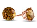 Finejewelers 14k Rose Gold 7mm Round Citrine Post-With-Friction-Back Stud Earrings style: E4043C14KR