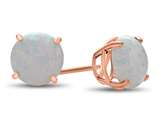 Finejewelers 10k Rose Gold 7mm Round Created Opal Post-With-Friction-Back Stud Earrings style: E4043CRO10KR