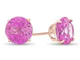 Finejewelers 10k Rose Gold 7mm Round Created Pink Sapphire Post-With-Friction-Back Stud Earrings style: E4043CRPS10KR