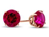 Finejewelers 10k Rose Gold 7mm Round Created Ruby Post-With-Friction-Back Stud Earrings style: E4043CRR10KR