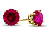 7x7mm Round Created Ruby Post-With-Friction-Back Stud Earrings style: E4043CRR10KY
