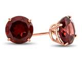 Finejewelers 10k Rose Gold 7mm Round Garnet Post-With-Friction-Back Stud Earrings style: E4043G10KR