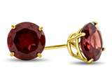 7x7mm Round Garnet Post-With-Friction-Back Stud Earrings style: E4043G10KY