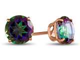 Finejewelers 14k Rose Gold 7mm Round Mystic Topaz Post-With-Friction-Back Stud Earrings style: E4043MT14KR