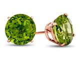 Finejewelers 10k Rose Gold 7mm Round Peridot Post-With-Friction-Back Stud Earrings style: E4043P10KR