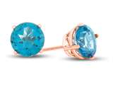 Finejewelers 10k Rose Gold 7mm Round Coated Paraiba Topaz Post-With-Friction-Back Stud Earrings style: E4043PAR10KR