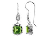 6x6mm Octagon Peridot Fishhook Earrings style: E6565P