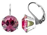 Color Craft™ 10.5mm Round Rose Color Genuine Swarovski Crystal Lever Back Earrings style: E7191SWROSE