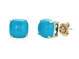 Finejewelers 14k Yellow Gold 7x7mm Cushion-Cut Compressed Turquoise Stud Earrings style: E8053TQ14KY