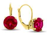 7x7mm Round Created Ruby Lever-back Earrings style: E8116CRR10KY